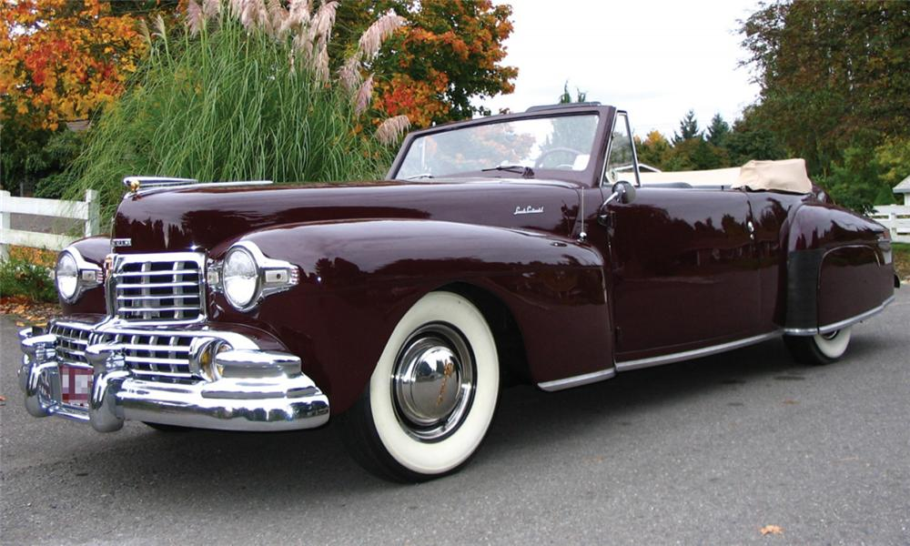 1947 LINCOLN CONTINENTAL CONVERTIBLE - Front 3/4 - 15980