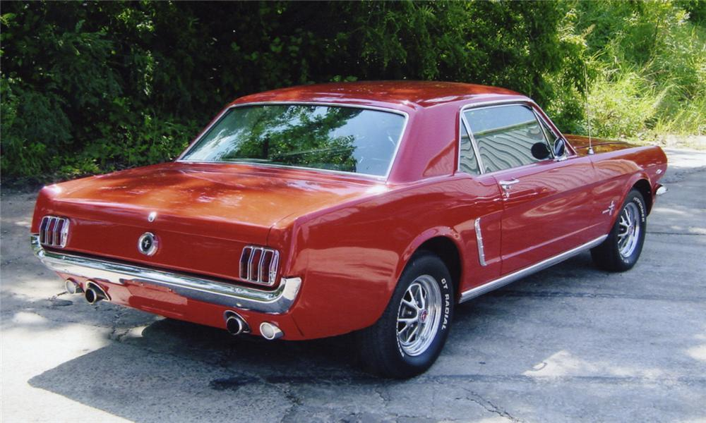 1965 FORD MUSTANG COUPE - Rear 3/4 - 15987