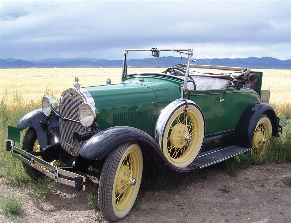 1929 FORD MODEL A DELUXE ROADSTER - Front 3/4 - 15995