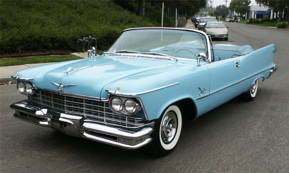 1957 CHRYSLER IMPERIAL CONVERTIBLE - Front 3/4 - 15996
