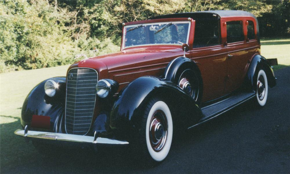 1936 LINCOLN K TOWNCAR - Front 3/4 - 16000