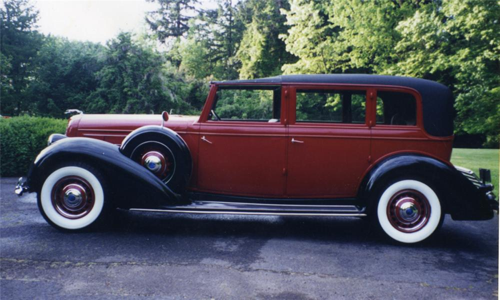 1936 LINCOLN K TOWNCAR - Side Profile - 16000