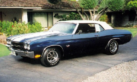 1970 CHEVROLET CHEVELLE LS6 CONVERTIBLE - Side Profile - 16005