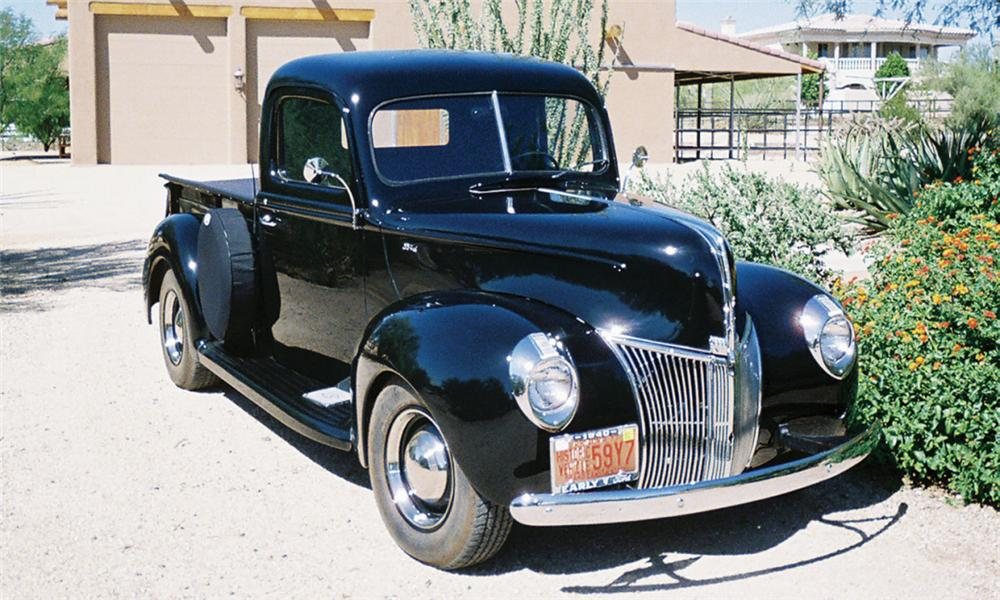 1940 FORD 1/2 TON PICKUP - Front 3/4 - 16007