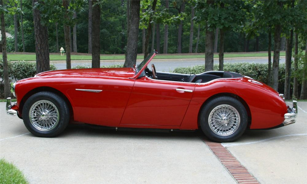 1962 AUSTIN-HEALEY 3000 MARK II ROADSTER - Side Profile - 16010