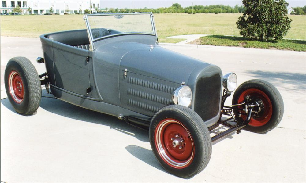 1929 FORD CUSTOM LAKES MODIFIED ROADSTER - Front 3/4 - 16041
