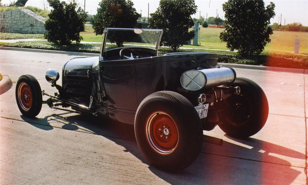 1929 FORD CUSTOM LAKES MODIFIED ROADSTER - Rear 3/4 - 16041