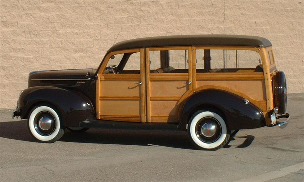 1940 FORD WOODY WAGON - Side Profile - 16050