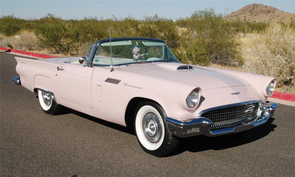 1957 FORD THUNDERBIRD CONVERTIBLE - Front 3/4 - 16053