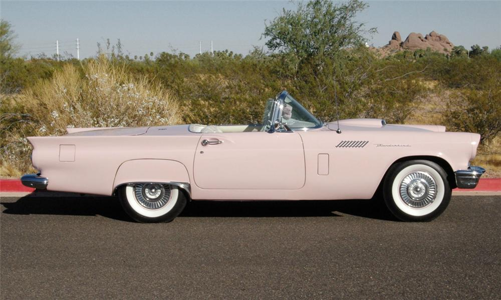 1957 FORD THUNDERBIRD CONVERTIBLE - Side Profile - 16053