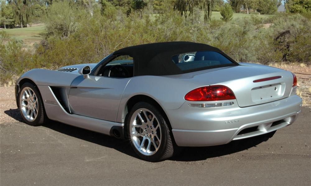 2003 DODGE VIPER CONVERTIBLE - Rear 3/4 - 16054