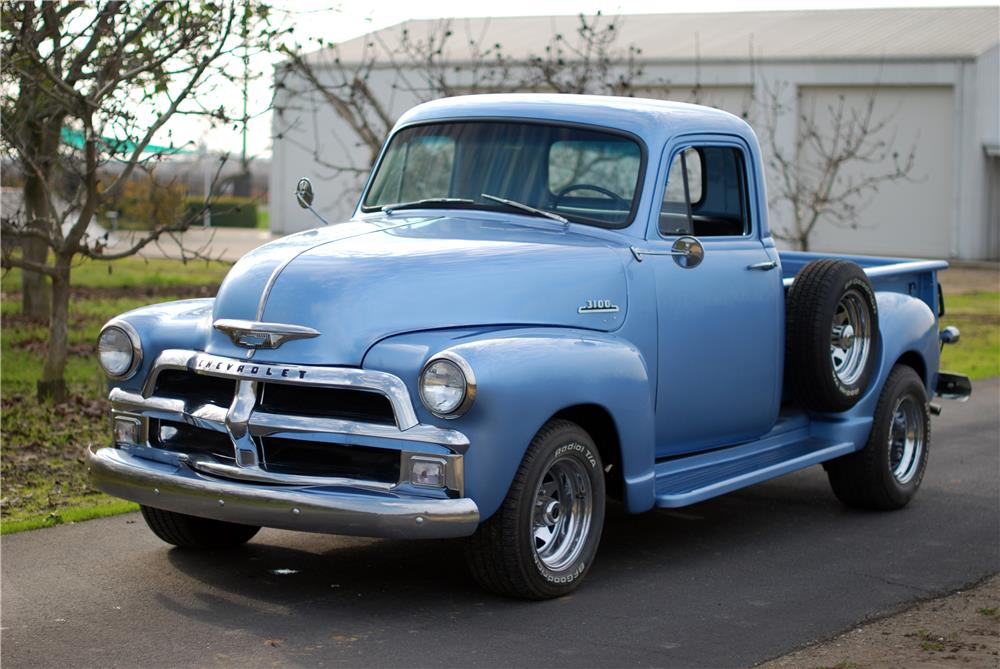 1955 CHEVROLET 3100 PICKUP - Front 3/4 - 160576