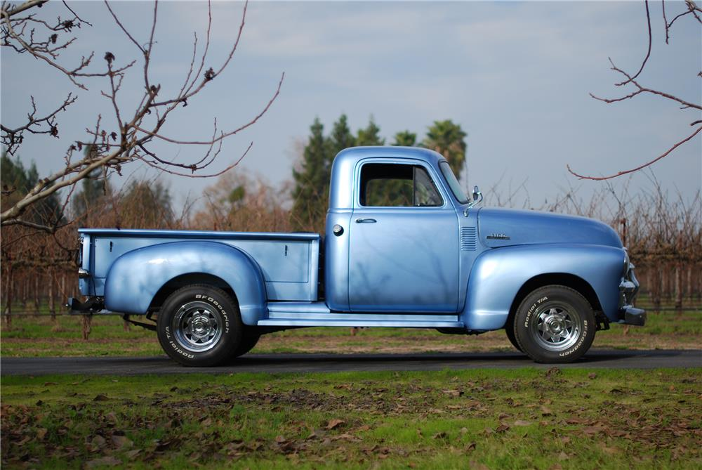 1955 CHEVROLET 3100 PICKUP - Side Profile - 160576