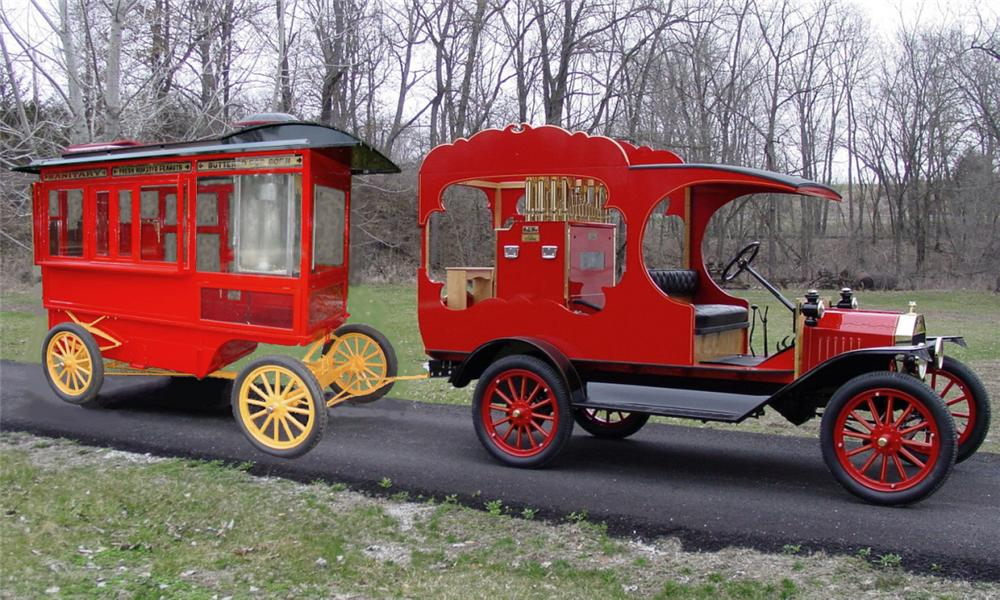 1915 FORD MODEL T W/CIRCUS CALLIOPE - Front 3/4 - 16063