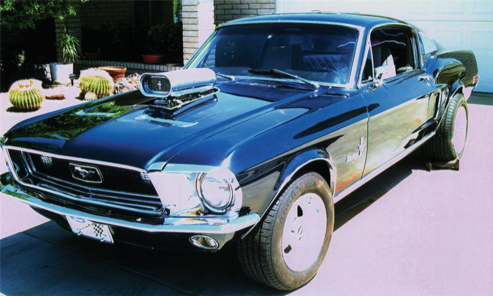1968 FORD MUSTANG CUSTOM FASTBACK - Front 3/4 - 16072
