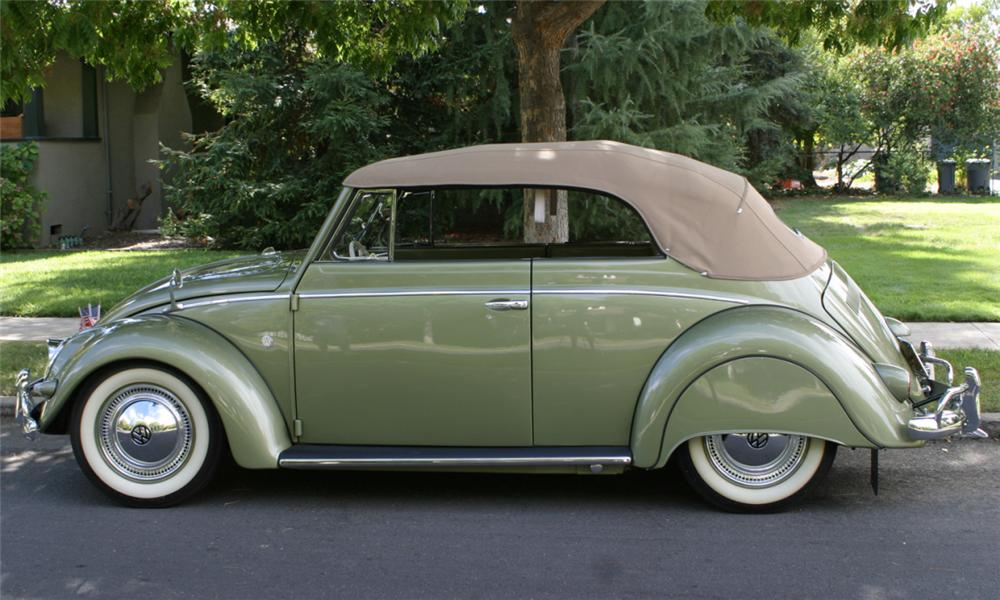 1956 VOLKSWAGEN BEETLE CABRIOLET - Side Profile - 16073