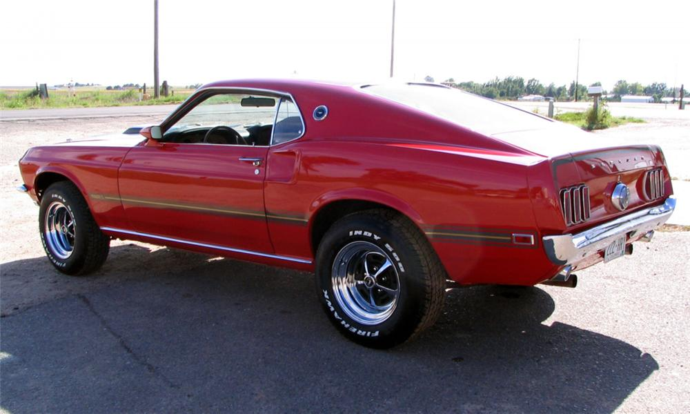 1969 FORD MUSTANG MACH 1 FASTBACK - Rear 3/4 - 16075