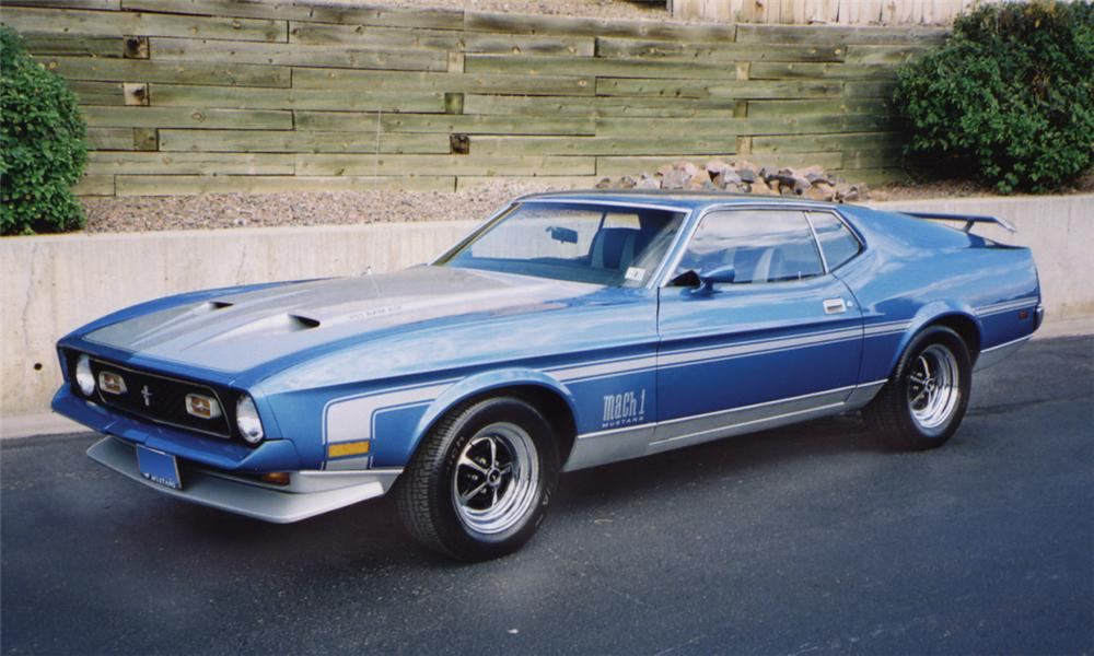1971 ford mustang mach 1 fastback front 3 4 16078. Cars Review. Best American Auto & Cars Review