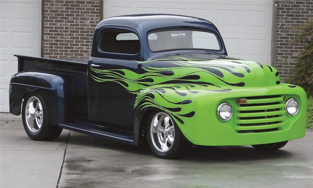 1949 FORD CUSTOM PICKUP - Front 3/4 - 16084