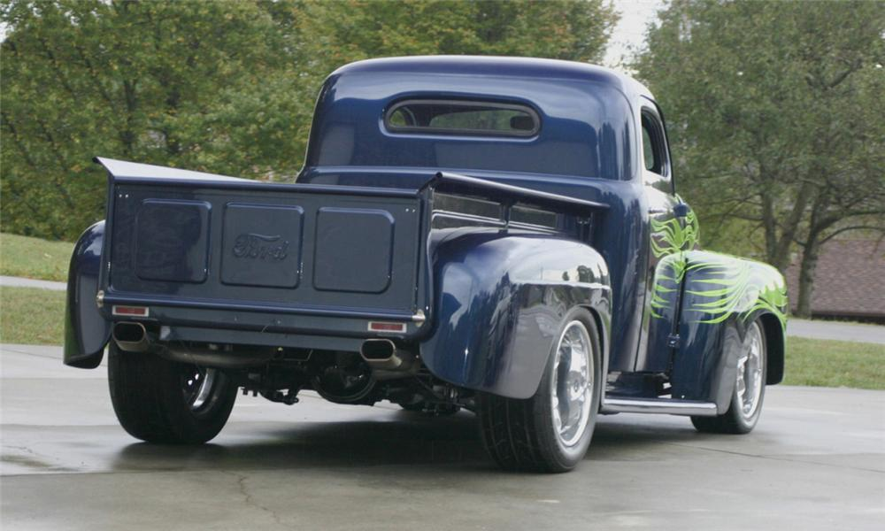 1949 FORD CUSTOM PICKUP - Rear 3/4 - 16084
