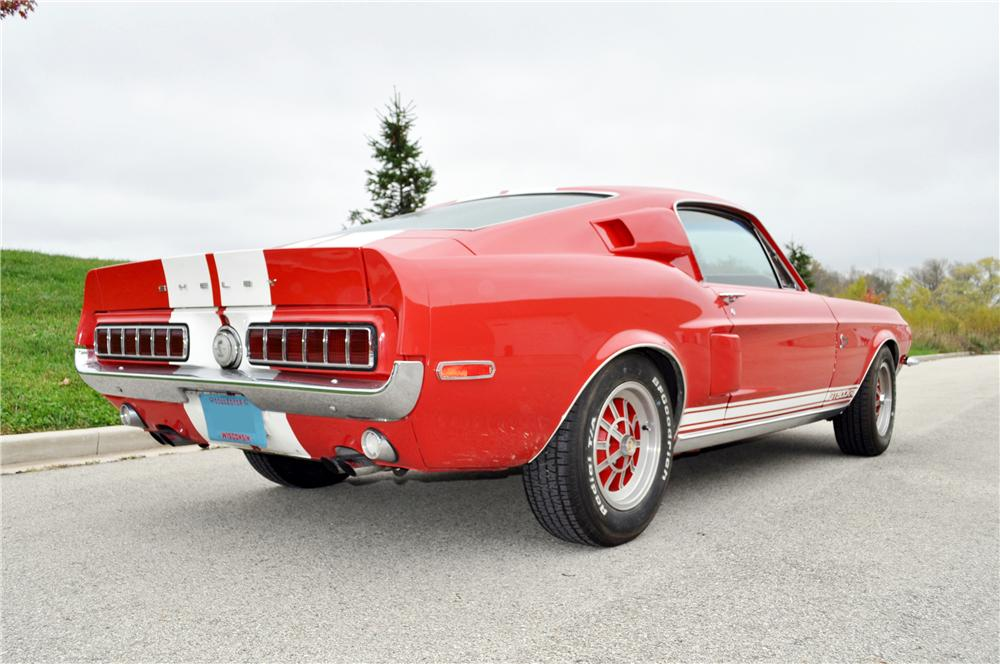 1968 SHELBY GT500 KR FASTBACK - Rear 3/4 - 160958