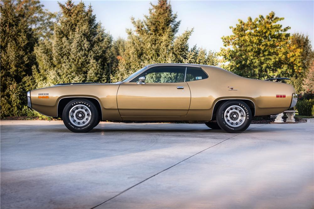 1971 PLYMOUTH HEMI ROAD RUNNER 2 DOOR HARDTOP - Side Profile - 160961