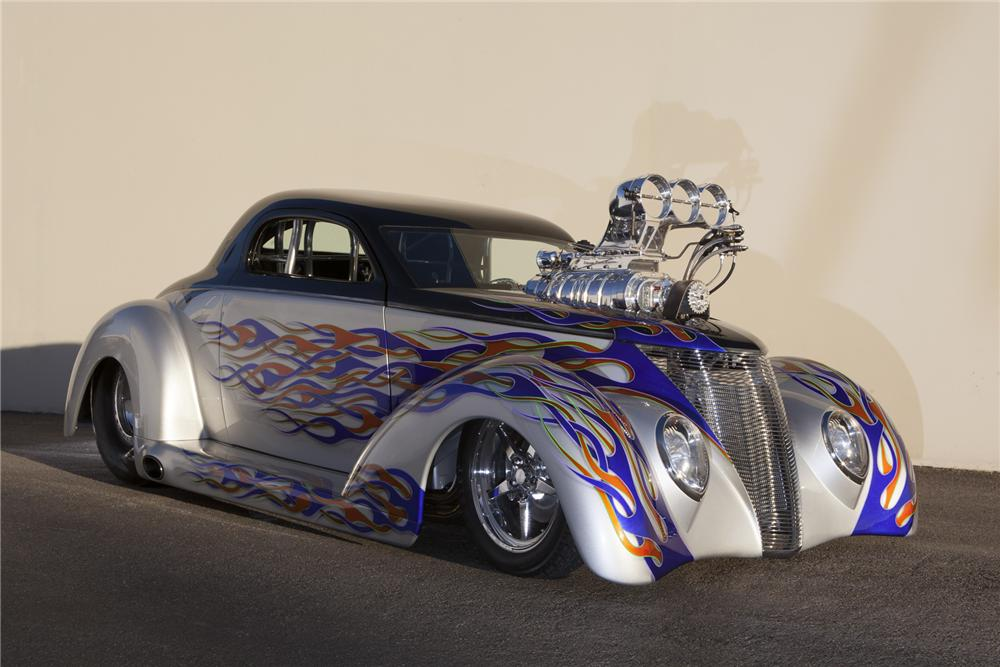1937 FORD CUSTOM DRAG CAR - Front 3/4 - 160965