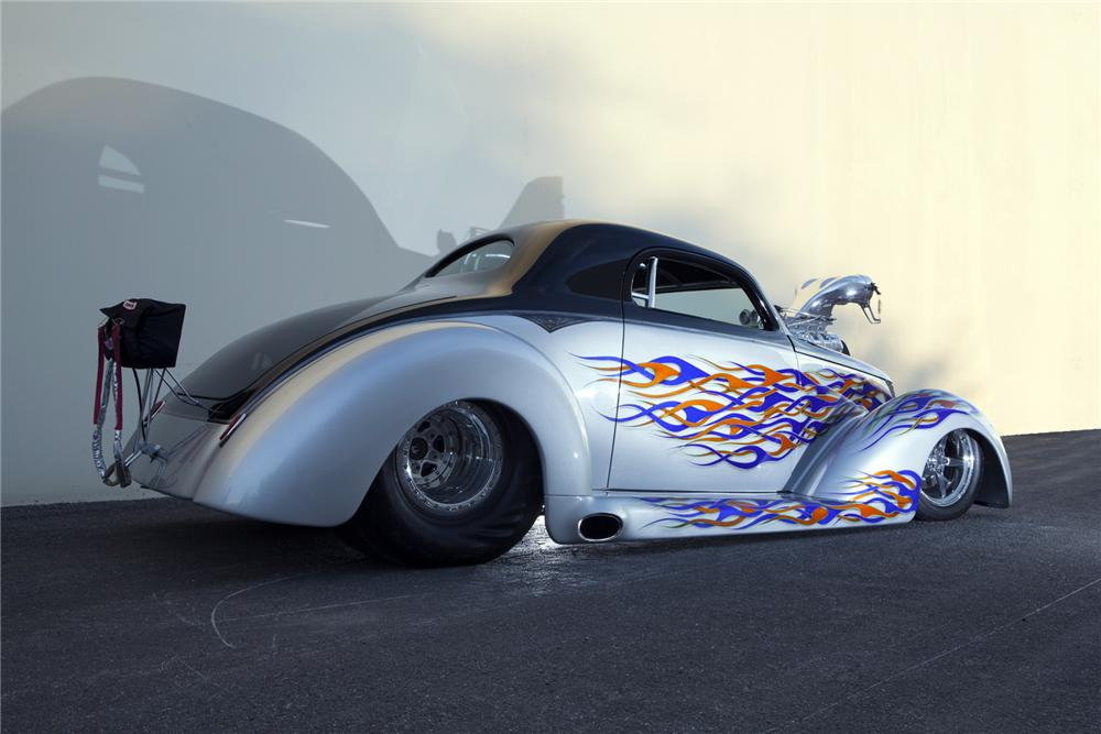 1937 FORD CUSTOM DRAG CAR - Rear 3/4 - 160965