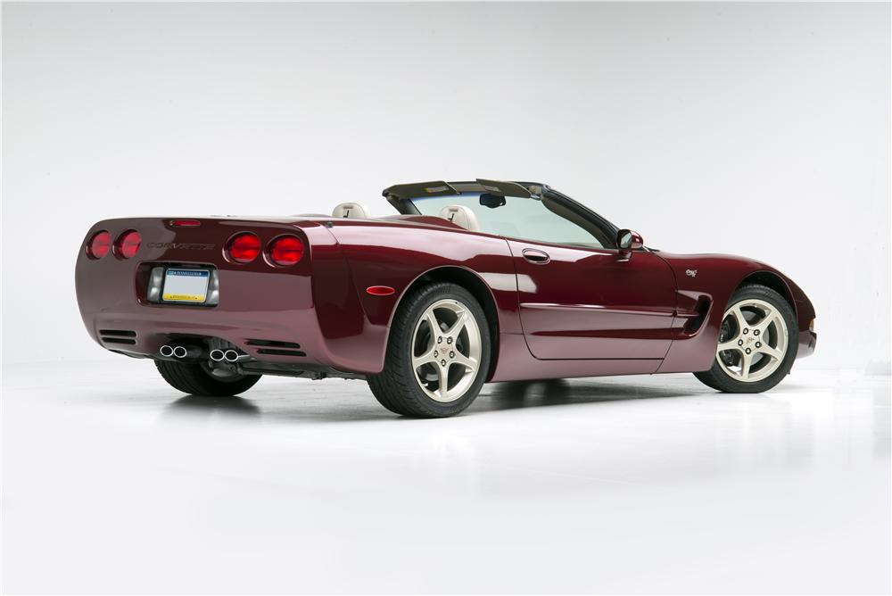 2003 CHEVROLET CORVETTE 50TH ANNIVERSARY CONVERTIBLE - Rear 3/4 - 160967