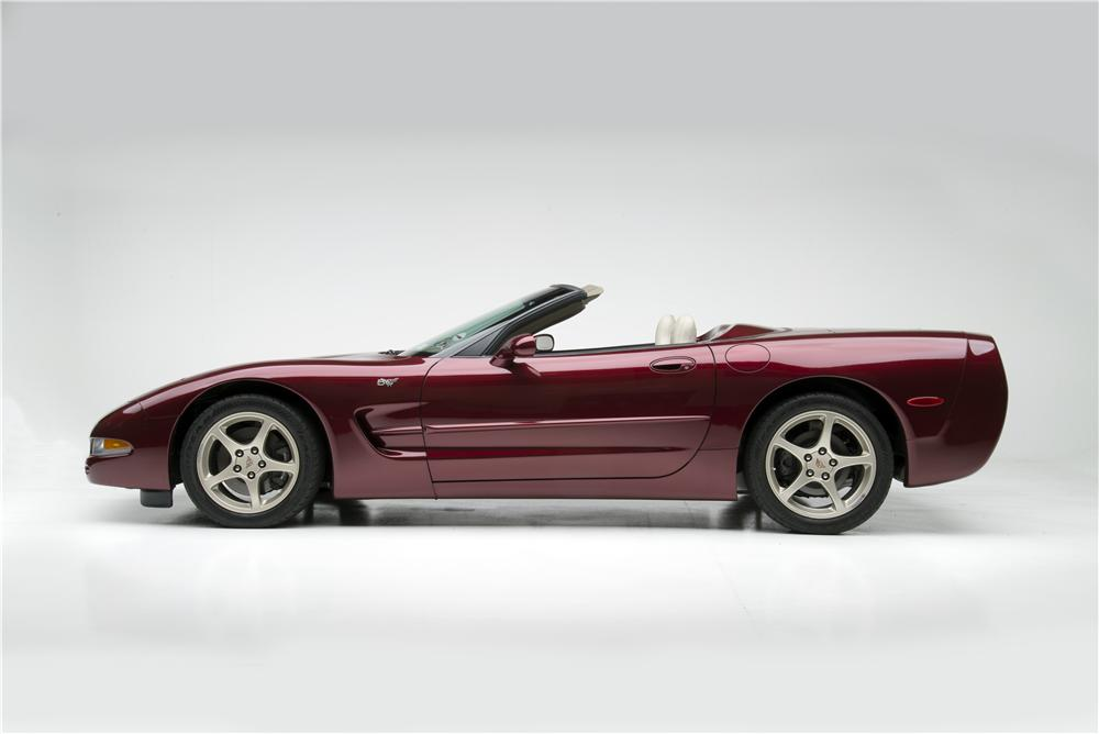 2003 CHEVROLET CORVETTE 50TH ANNIVERSARY CONVERTIBLE - Side Profile - 160967