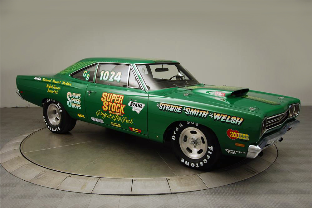 1969 PLYMOUTH ROAD RUNNER CUSTOM DRAG CAR - Front 3/4 - 160976