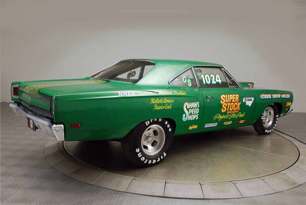 1969 PLYMOUTH ROAD RUNNER CUSTOM DRAG CAR - Rear 3/4 - 160976