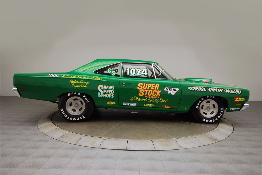 1969 PLYMOUTH ROAD RUNNER CUSTOM DRAG CAR - Side Profile - 160976