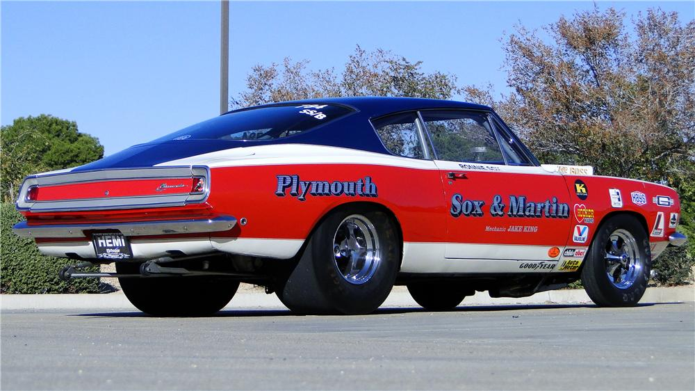 1968 PLYMOUTH BARRACUDA HEMI FACTORY RACE CAR - Rear 3/4 - 160977
