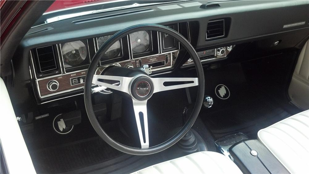 1972 BUICK GS STAGE 1 CONVERTIBLE - Interior - 160987