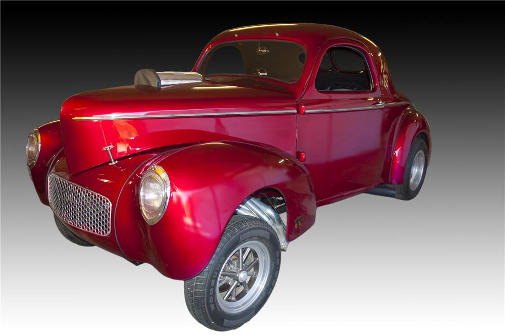 1941 WILLYS AMERICAR CUSTOM 2 DOOR COUPE - Front 3/4 - 160989