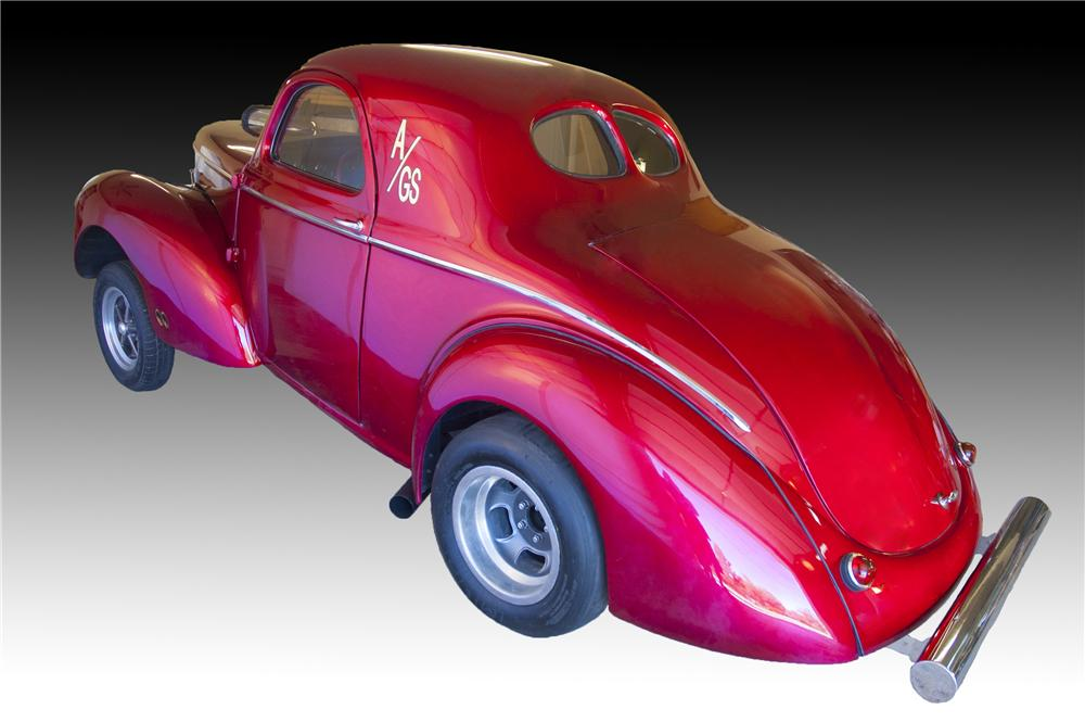 1941 WILLYS AMERICAR CUSTOM 2 DOOR COUPE - Rear 3/4 - 160989