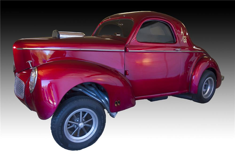 1941 WILLYS AMERICAR CUSTOM 2 DOOR COUPE - Side Profile - 160989
