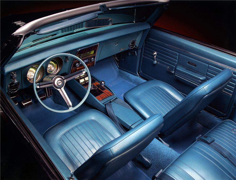 1968 CHEVROLET CAMARO SS CONVERTIBLE - Interior - 160991