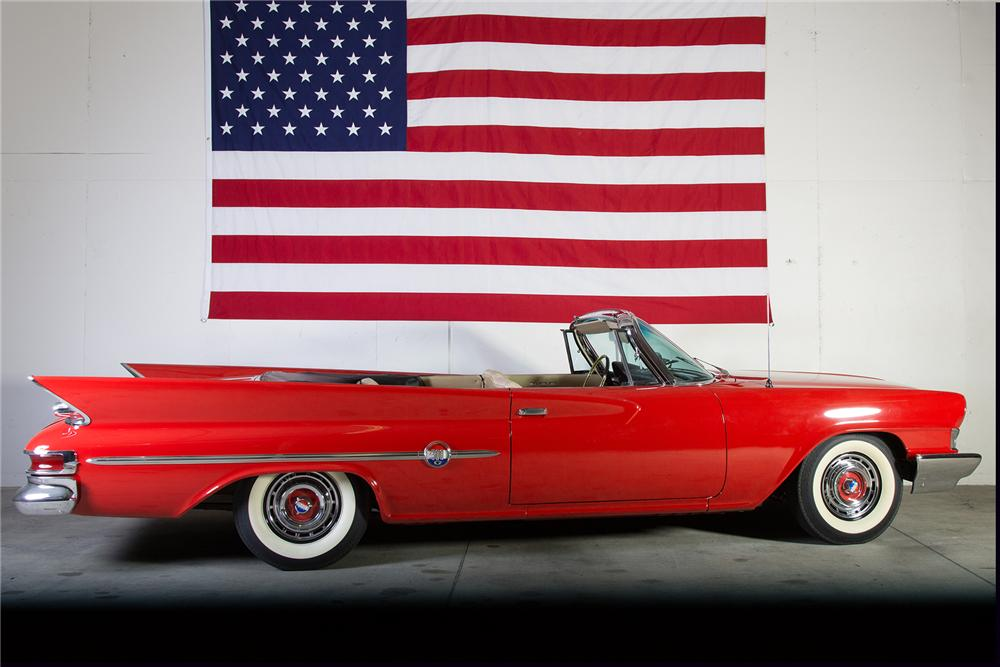 1961 CHRYSLER 300G CONVERTIBLE - Side Profile - 161010