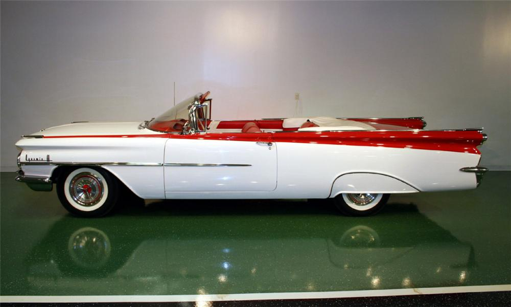 1959 OLDSMOBILE 88 CONVERTIBLE - Side Profile - 16102