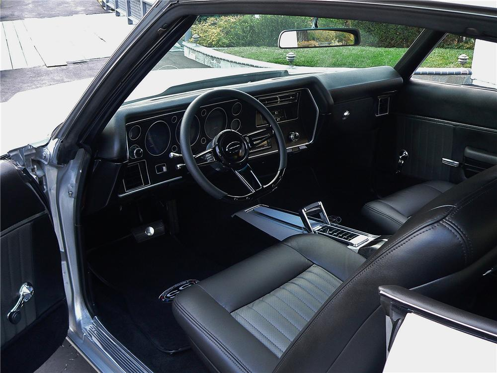 1970 CHEVROLET CHEVELLE MALIBU CUSTOM 2 DOOR COUPE - Interior - 161028