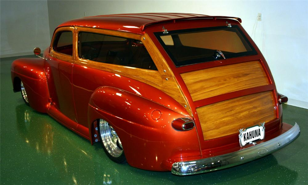 1948 FORD CUSTOM WOODY WAGON - Rear 3/4 - 16104