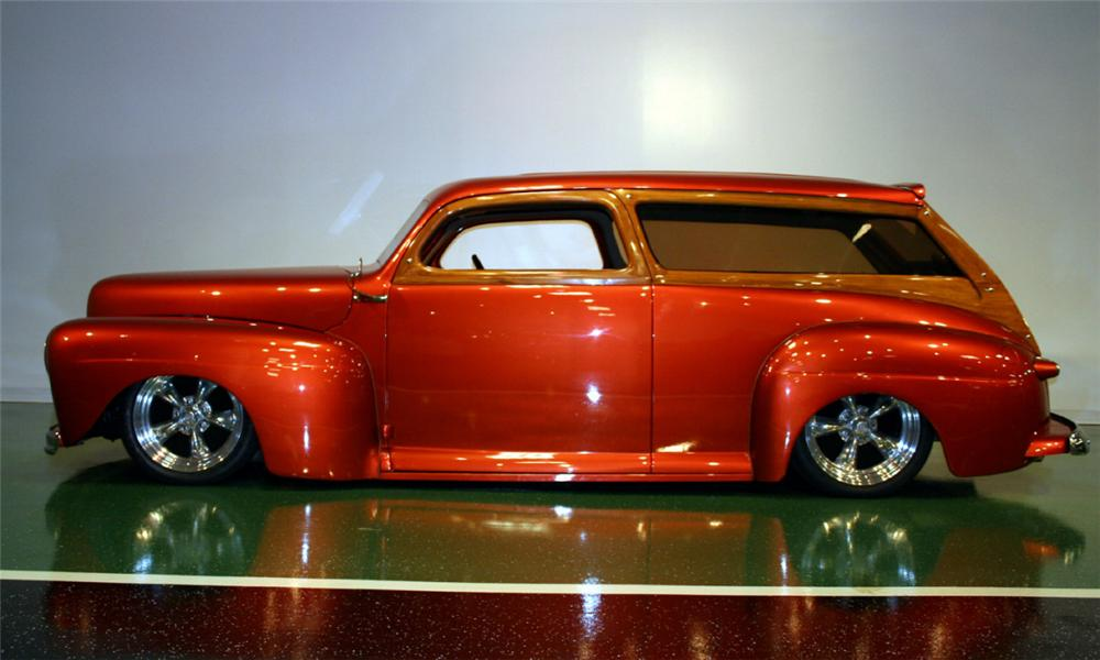 1948 FORD CUSTOM WOODY WAGON - Side Profile - 16104