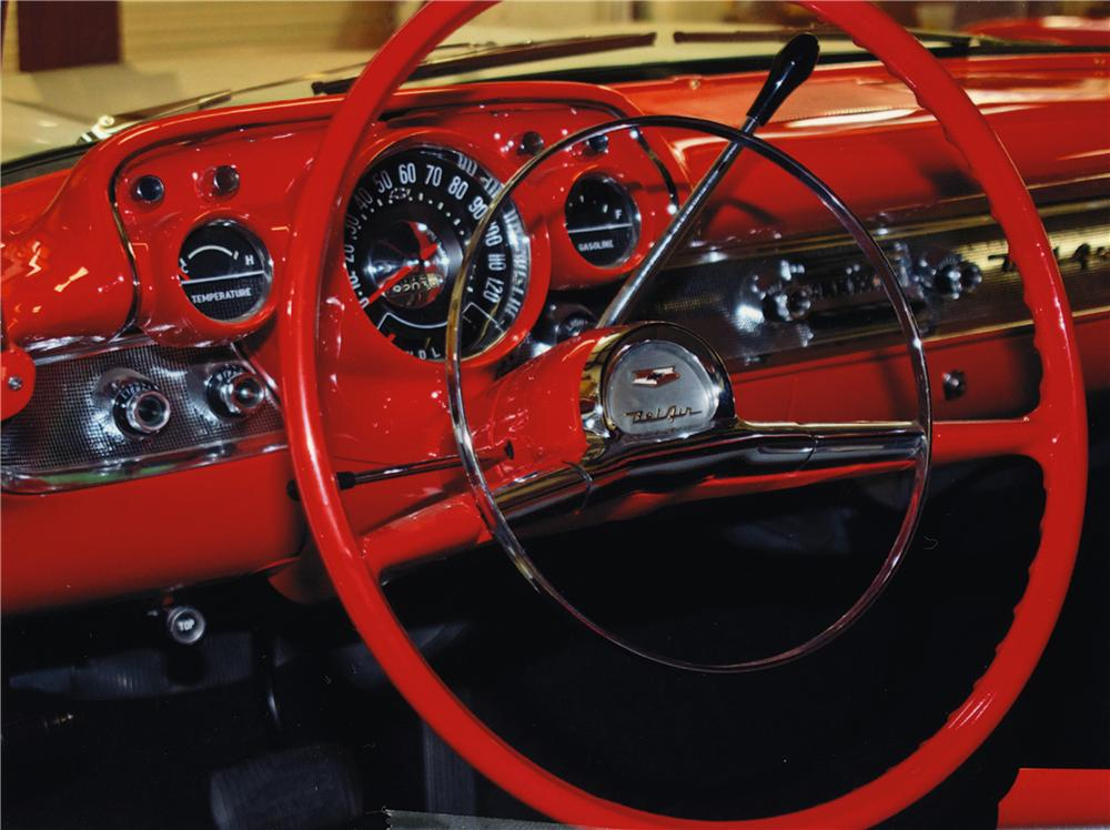 1957 CHEVROLET BEL AIR CONVERTIBLE - Interior - 161042