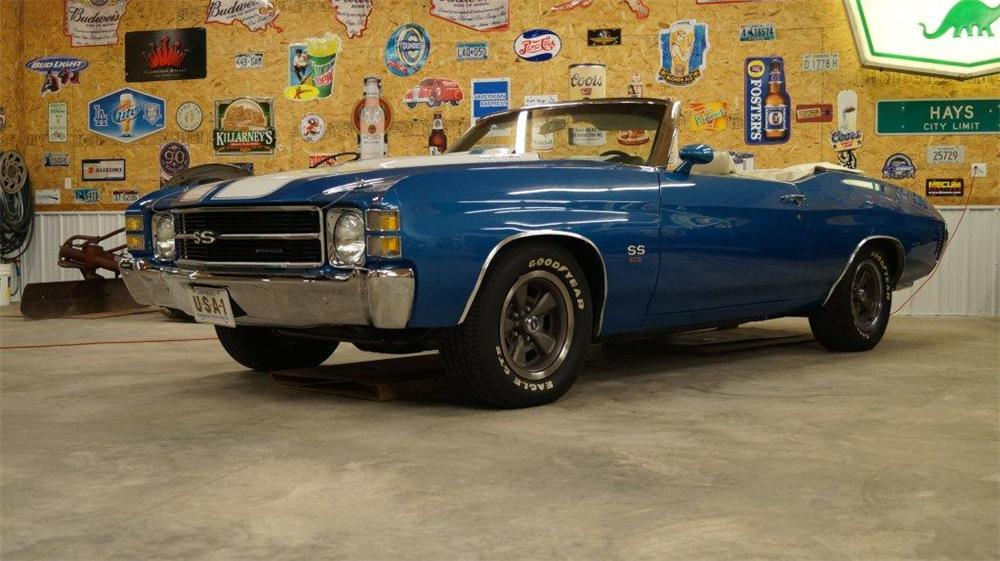 1971 CHEVROLET CHEVELLE CUSTOM CONVERTIBLE - Side Profile - 161047