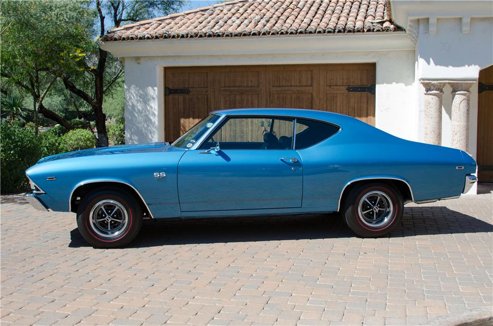 1969 CHEVROLET CHEVELLE SS 396 2 DOOR HARDTOP - Side Profile - 161096