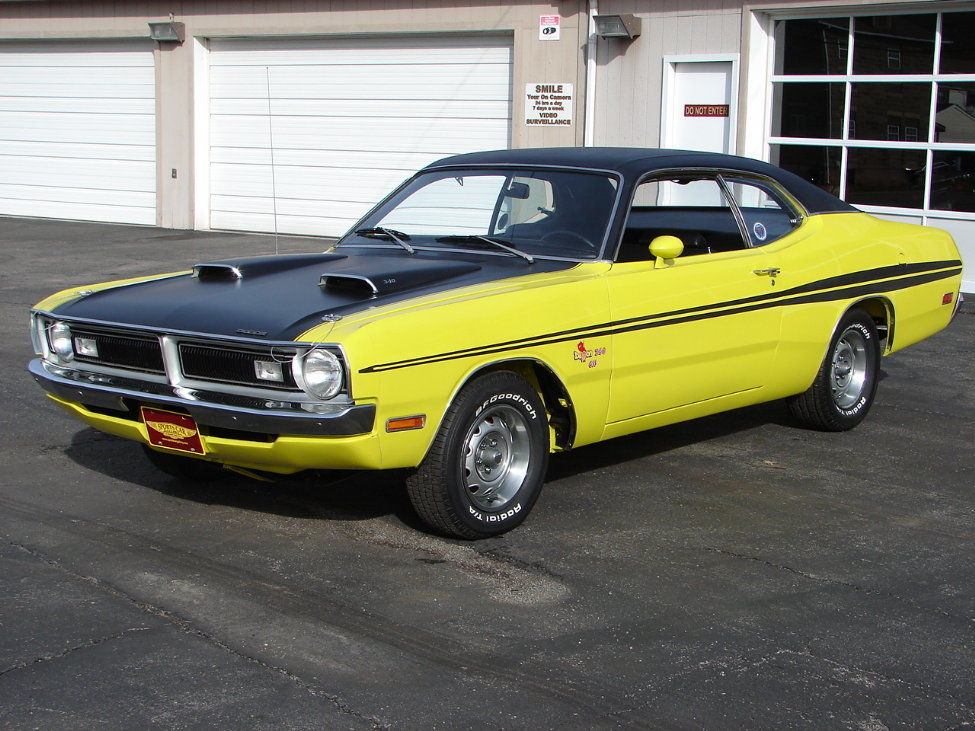 1971 DODGE DEMON 340 GSS 2 DOOR COUPE - Front 3/4 - 161114