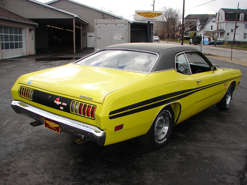 1971 DODGE DEMON 340 GSS 2 DOOR COUPE - Rear 3/4 - 161114
