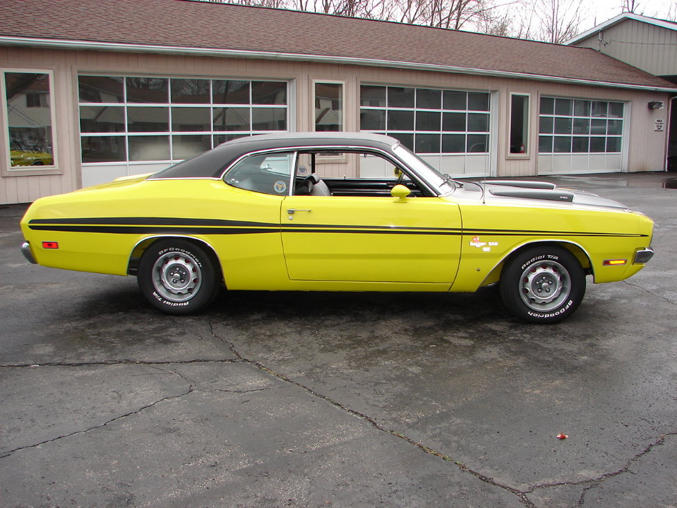 1971 DODGE DEMON 340 GSS 2 DOOR COUPE - Side Profile - 161114